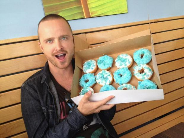 Breaking bad blue candy donut