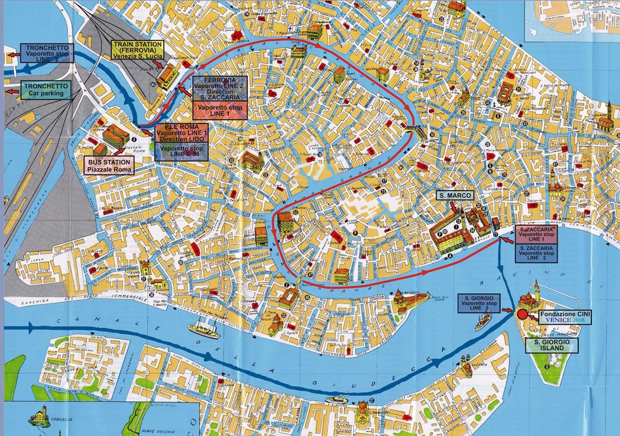 venedik harita