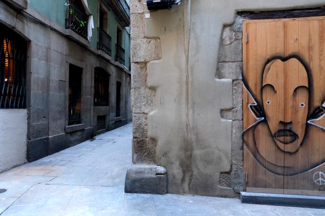 Barselona Sokak Sanatı