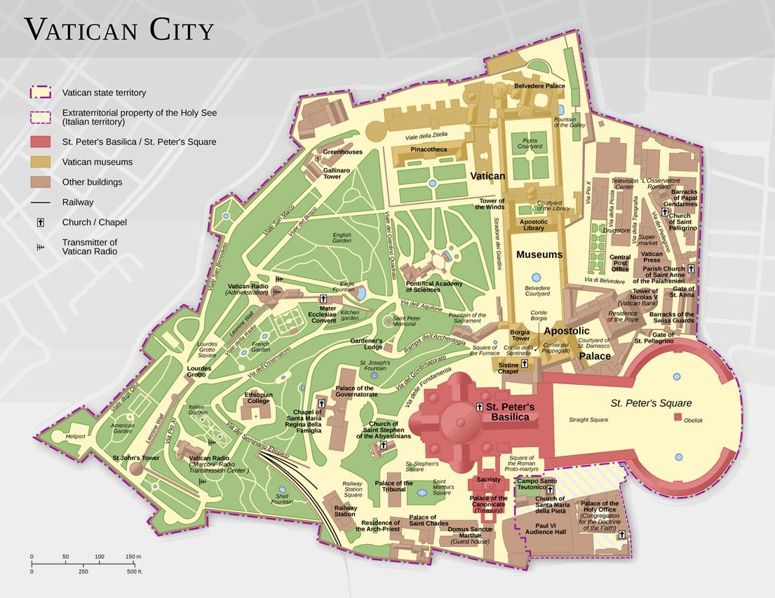 Vatikan-haritası