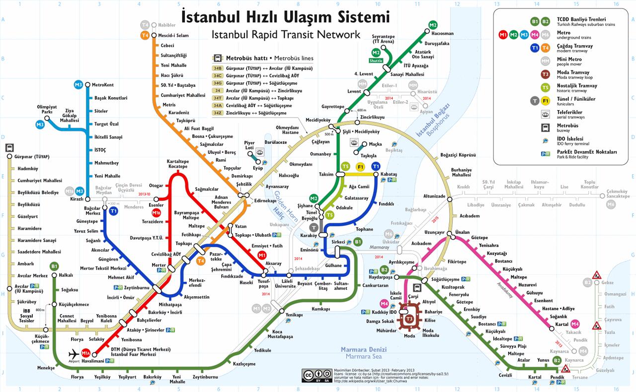 Istanbul Transportation Map