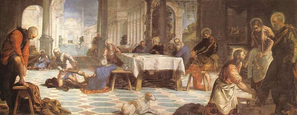 16 TINTORETTO WASHING THE FEET OF HIS DISCIPLES