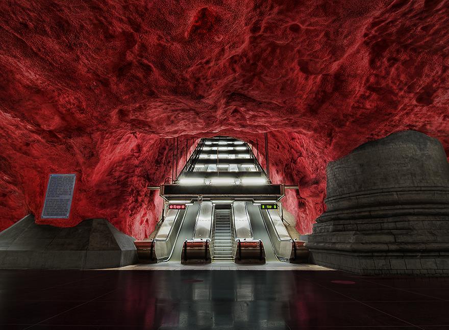 radhuset metro station stockholm sweden