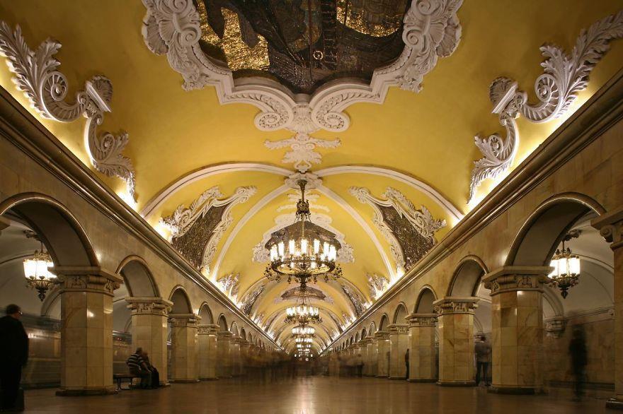 avtovo metro station st petersburg russia