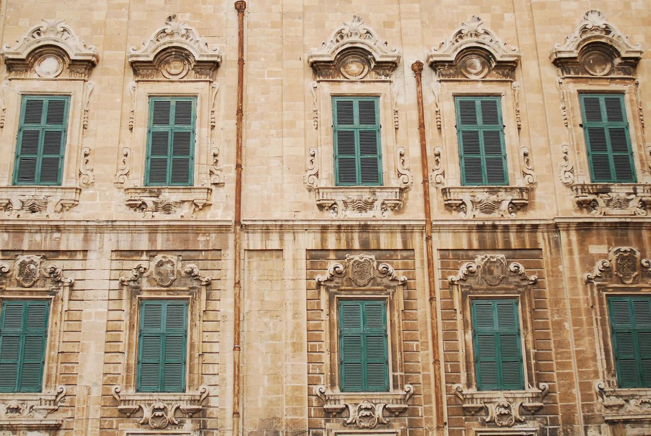 Architecture of Valletta, Malta, Mediterranean Sea.