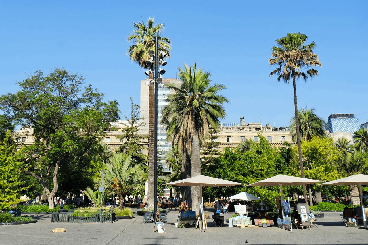 santiago de chile plaza armas