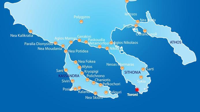 halkidiki harita