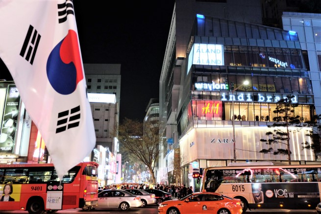 Myeongdong Güney Kore